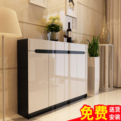 The shoe paint large capacity European wood custom entrance porch ark simple modern pastoral shoe thin white Assemble Self installed customers straight down 150, consulting customer service