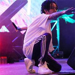 China has hip-hop TT, the same pants, your boys Tizzy T feet, hip-hop straight little cylinder, nine pants men and women S Black feet