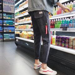 Men fall feet pants nine new trend of Korean students Haren cashmere pants plus sports leisure pants all-match 3XL gray