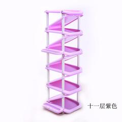 A new simple storage rack multilayer shoe economical simple modern multi-function assembled plastic household living room violet