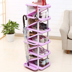 Simple dormitory shoe special offer family household economic multi-storey dormitory space rotating shoe violet