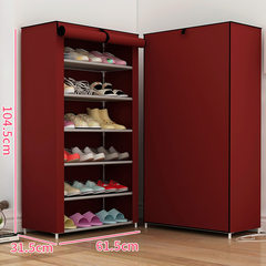 [] every day special offer simple storage cabinets simple dustproof multilayer shoe type combination shoe shoe shelf economy B wine red