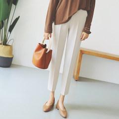 Female suit pants pants nine autumn 2017 waist slim cigarette pants loose pants feet Haren student leisure tide 3XL Beige