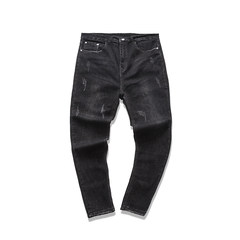 Jeans, men's stretch pants, boys' legs, and pants Thirty black