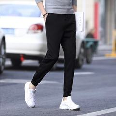 Male pants trend of Korean Haren autumn sports pants pants trousers nine feet all-match men's Casual Pants Boys XL Leather rope