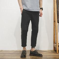 GBOY summer tide pants nine male slim feet Korean casual pants students thin all-match pencil pants on Thirty black