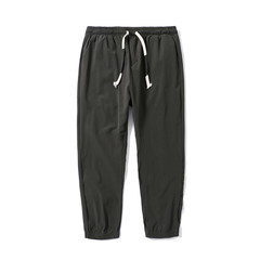 The fall of the new thin pants color pants nine Japanese men's casual pants loose pants feet Wei Chao. 3XL Army green