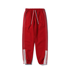 Korean autumn and winter hip hop striped casual pants, casual young men's street sports, foot Haren pants tide S gules
