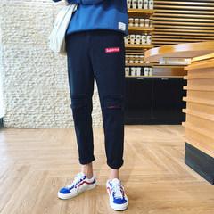 Fall pants pants, men's slim pants, Korean Trend pants, pants, BF pants, winter 3XL black