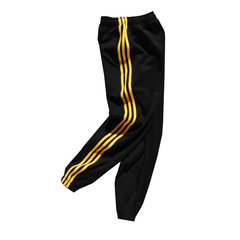 Street trendsetter three bars INS with retro lovers uniforms pants ankle banded pants pants men leisure athletics health S Black yellow stripe