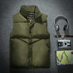 Feather cotton vest male winter short vest couple size thick coat trend of Korean handsome vest vest Collection + shopping cart priority delivery 5833 green