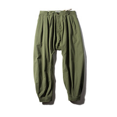 The American Army Green overalls Edison loose baggy pants pants pants feet large flying squirrel leisure pants men tide S Army green