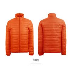 The new lightweight jacket collar men size short slim super light leisure coat winter season clearance 3XL Orange