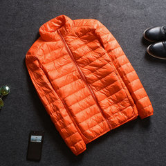 New winter jacket collar short thin male slim young slim size Hooded Jacket clearance 3XL Orange