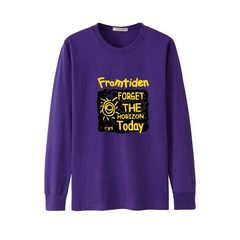 Every day, long sleeved men's T-shirt, loose big code, out of the fall t-shirt t-shirt, add fertilizer XL sweater The dress is too large for the loose version Purple sunflowers