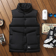 Every day special pair of men's vest, men's autumn, winter, Korean tide, down cotton, the same social youth spirit guy S 85-100 kg below 165 height Black extended version plus 20 Yuan contact customer service