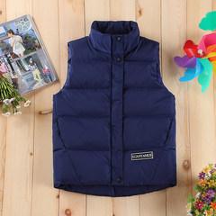 Male short down cotton vest gilet vest collar couples dress tide of Korean students in autumn and winter season. 3XL Royal Blue