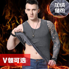Every day special winter cotton thickening warm vest, male cotton big size close fitting underwear underwear vest 3XL Photographed 2 pieces 35 yuan