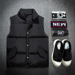 Feather cotton vest men size Kanjian winter thickened young men and women vest short coat couple korean tide 3XL black
