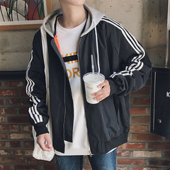 The fall of 2017 new couples during the spring and autumn winter coat jacket men Korean baseball uniform trend all-match handsome students 2XL Red thickening