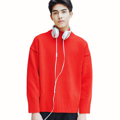 Winter new Aberdeen fresh art men sweater loose turtleneck sweater half Korean couple warm coat Collection freight insurance + priority delivery A half - red