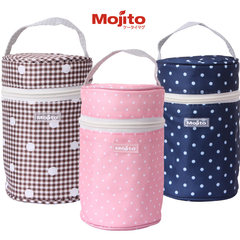 Japanese Mojito stew beaker cup pot stew pot cover portable cup cover 350ML-500ML general White 400ml