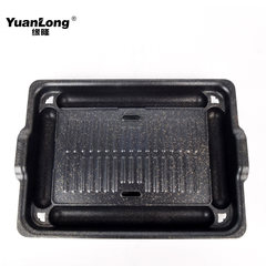 Korean electric grill commercial smoke-free non stick bakeware buffet barbecue square flat disc independent disk center