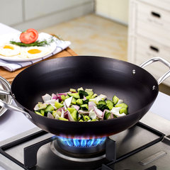 German craft pot without coating, physical non stick cooked Wok Wok, health is not rusty, not easy to stick pot LG3510