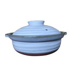 [Japan] imported ceramic casserole vancomycin soil pot stewed chicken soup cooker pot stew available steamer Silver Peak No. 8 soil pot