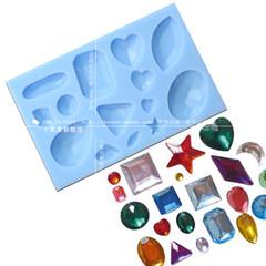 SK flip sugar cake, silicone mold, gem diamond jewelry, chocolate clay mold, crystal sugar mold 30-3-1