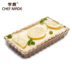 Chefmade type steel kitchen champagne gold 7 inch nonstick rectangular bottom pie WK9210 / tart WK9210