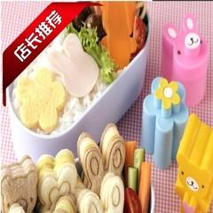 Cute bear flower rabbit sandwich mold bread cookie cracker lunch model new Japanese