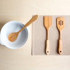 Long handle bamboo spatula cooking pan wood wooden kitchen spatula shovel inclined wooden shovel wooden shovel wooden spoon kitchenware Diagonal leakage shovel