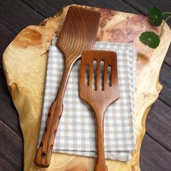 Japanese art personality Home Furnishing peel Zaomu acid nonstick wood wooden spatula spatula Process without hole shovel