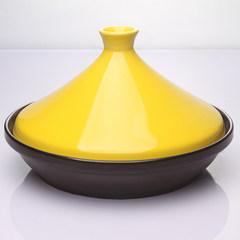 Pan Ji tower exported to Japan South Korea ceramic pot casserole casserole for hotel tower Light yellow 30CM