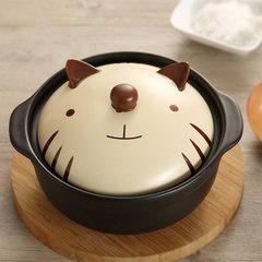 Creative cartoon stone pot bibimbap ceramic pot casserole stew pot pot of Korean high temperature fire shipping 1200ML Meng cubs