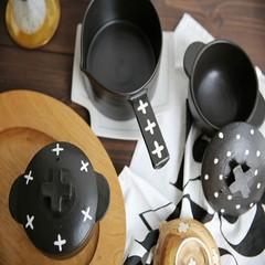 Japanese writer Uda Reina Yun Tao hot ovenware heat-resistant soil pot burst us cross pattern Talasite point Pending charge