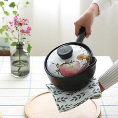 Kawashima Akitakaidoakimi cook high temperature ceramic casserole Japanese milk pot pot soup pot stew pot GJ-8 1.6L milk pot