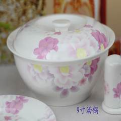 The flower pot pot products 9 inch large ceramic bone china foreign trade Tangshan special offer thickened bone porcelain with a cover