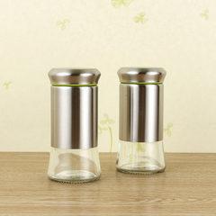 A flow of treasure 304 stainless steel kitchen set pot seasoning pot seasoning seasoning cans. Post glass Bluish green