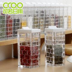 Japan imported INOMATA kitchen pot seasoning seasoning box and salt seasoning bottle seasoning pot 7 hole white cover