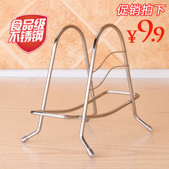 304 stainless steel kitchen chopping chopping board shelf shelf board rack dish pier knife rack cover frame Triangular stainless steel cutting board rack