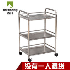 Kitchen shelf, stainless steel microwave oven, shelf frame, vegetable rack, metal storage equipment, appliances Matt black 50, four layers long