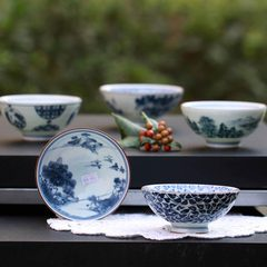Japanese imports of ceramic tableware porcelain bowl bowl bowl Steamed Rice landscape and the blue and white porcelain 43 yuan per pill