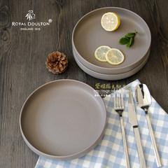 ROYAL DOULTON tableware bowl dish ceramic tableware baked rice pan European simple new bone plate Pale grey 21cm with logo