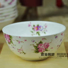 Korean Japanese ceramic bowl pastoral style 4.5- 5-7 inch bowl bowl bowl of soup bone By 5 inch bowl