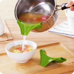 Sprinkle with creative kitchen Cullender round edge guide liquid diversion mouth down soup kitchen gadget