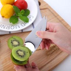 Stainless steel multifunctional fruit fork scoop spoon, creative kitchen gadget, home fruit knife, Western tableware
