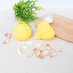 Kitchen gadget, silica gel garlic peeler, household multifunctional peeling machine, peeler, manual grinding garlic yellow