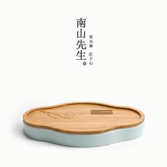 Nanshan Mr. | Yingqing plum bamboo tea table dry dry bulb Disc Ceramic Tea Japanese Kung Fu Tea Plum blossom shadow green dry bubble dish